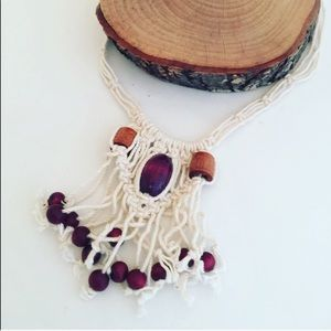 Vintage: Awesome New Old Stock Macrame Necklace